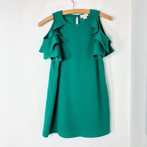 Kate Spade New York Ruffle Slv Dress Emerald Ring